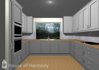 3D image kitchen Lavenham
