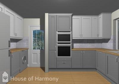 3D image of kitchen at Lavenham