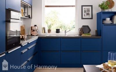 Blue schuller kitchen