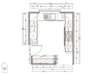 Plan of Kitchen at Lavenham