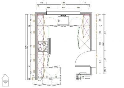 Plan of Kitchen in Bury St Edmunds