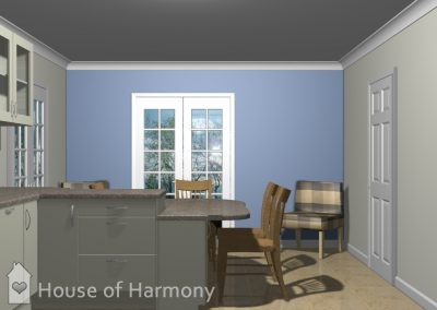 Rattlesden Kitchen 3D Plan by House of Harmony