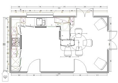 Rattlesden Kitchen Plan by House of Harmony